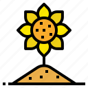 farm, flower, garden, nature, sunflower icon