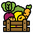 farm, food, healthy, vegetables icon