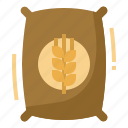 bag, farm, grain, pack, wheat