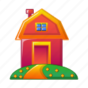 agriculture, cottage, equipment, farm, house, vegetable garden icon