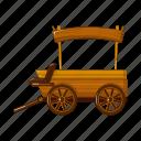 agriculture, cart, equipment, farm, transport, vegetable garden icon
