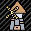 building, dutch, tower, turbine, windmill icon