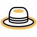 farmer, hat, head, protection, straw