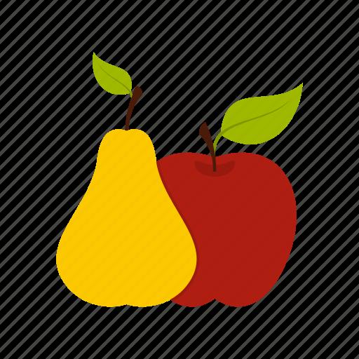 Apple, diet, food, fruit, leaf, pear, ripe icon - Download on Iconfinder