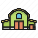 barn, building, farm, house icon