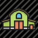 barn, building, farm, house