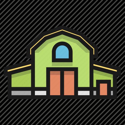 barn, building, farm, house icon