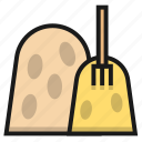 farm, fork, hay, straw icon