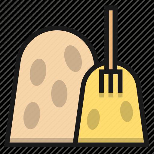 farm, fork, hay, straw icon