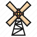 building, farm, propeller, windmill icon
