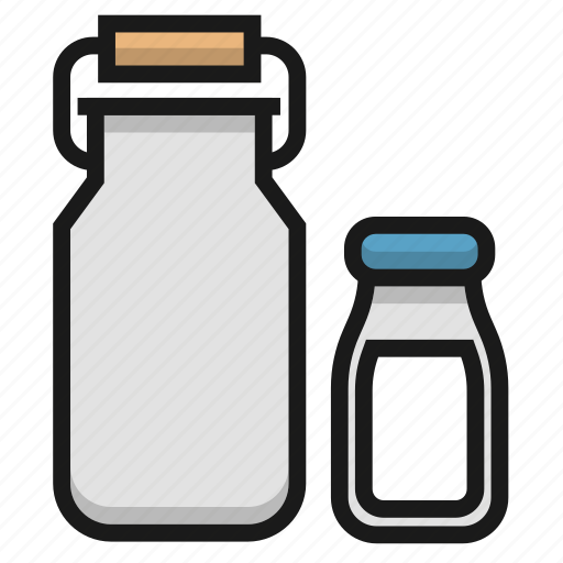 bottle, buttermilk, cream, farm, milk icon