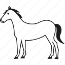 animal, farm, farm animal, horse icon
