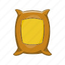 agriculture, bag, cartoon, grain, sack, sign, wheat icon