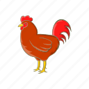 animal, cartoon, chicken, farm, food, meat, sign icon