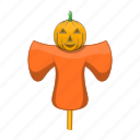 autumn, cartoon, farm, field, halloween, scarecrow, sign icon