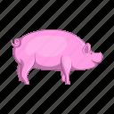 animal, cartoon, farm, meat, pig, pork, sign
