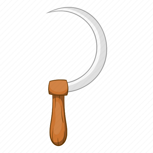 agriculture, blade, cartoon, farm, sickle, sign, work icon