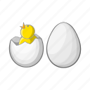 bird, cartoon, chick, chicken, egg, farm, sign icon