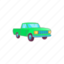 car, cartoon, pickup, sign, transportation, truck, vehicle