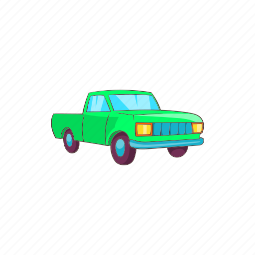 car, cartoon, pickup, sign, transportation, truck, vehicle icon