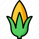 corn, farm, indian corn, maize, plant icon