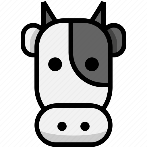 animal, cattle, cow, farm, farm cow, neat icon