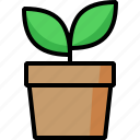 farm, flower pot, plant, pot, seed, vase icon