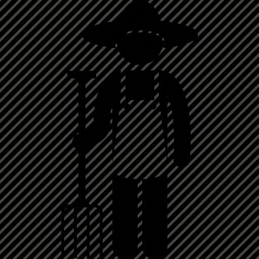 farmer, fork icon