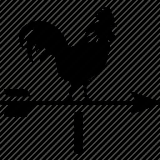arrow, chicken, compass, direction, farm, roof, turbine icon