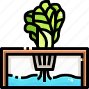 farming, gardening, hydroponic, irrigation, organic, watering icon