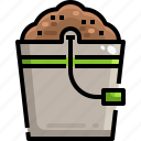 bucket, farming, plants, seed, tool