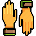 farming, gardening, gloves, protection, tools icon