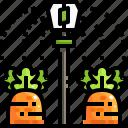 farm, farming, gardening, plants, sprinkler, watering icon