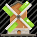 ecologic, eolian, farming, mill, windmill, windmills icon