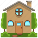 architecture, buildings, estate, home, house, property, real icon