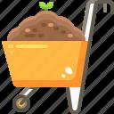farming, tools, wheel, wheelbarrow, wheels icon