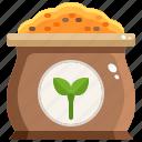 bag, farming, garden, organic, seed icon