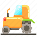 farming, tractor, transport, vehicle icon