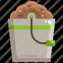 bucket, farming, plants, seed, tool icon