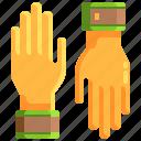 farming, gardening, gloves, protection, tools icon