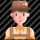avatar, farm, farmer, farming, gardener, male, people icon