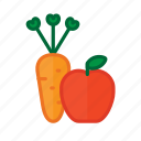 apple, carrot, food, healthy, meal, organic, vegetable