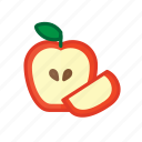 apple, farming, food, fresh, fruit, healthy, meal icon