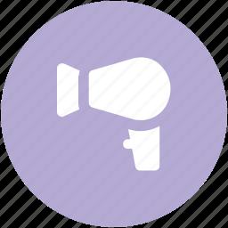 blow dryer, hair beauty, hair dresser, hair dressing, hair dryer, hair salon, salon electricals icon