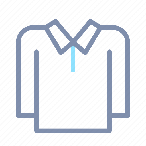clothes, clothing, fashion, long, polo, shirt, sleeve icon