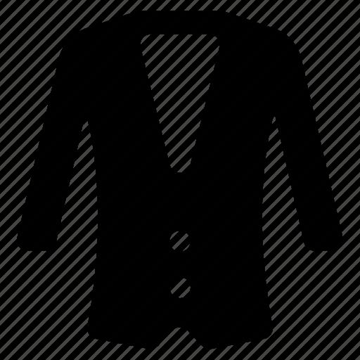 apparel, clothing, formal wear, jacket, men coat icon