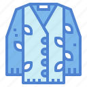 cardigan, clothes, fashion, garment icon
