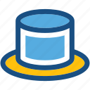 beaver hat, high hat, tall hat, top hat, victorian hat icon