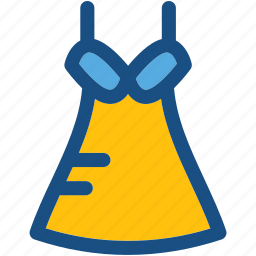 frock, party dress, prom dress, sundress, woman clothing icon