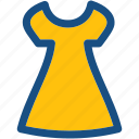 frock, party dress, sundress, swing dress, woman clothing icon